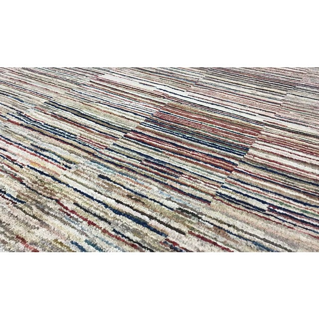 "Contemporary Contemporary Hand Woven Rug - 3'11"" X 5'10"" For Sale - Image 3 of 4"
