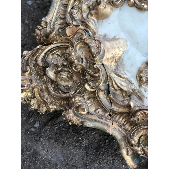 White Modern Mohammad Hadid Estate Gold Leaf Ceiling Medallion For Sale - Image 8 of 13