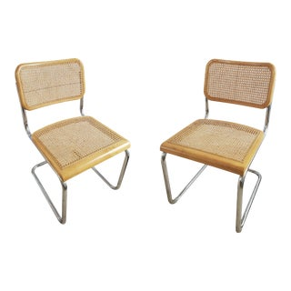 1970s Cesca Breuer Style Chairs - a Pair For Sale
