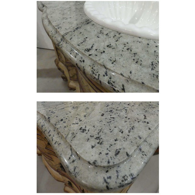 Chinoiserie Paint Decorated Sink Vanity For Sale - Image 10 of 13