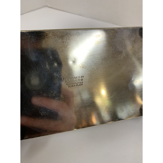 Silver 1960s Ronson Silver-Plated Cigarette Box For Sale - Image 8 of 9