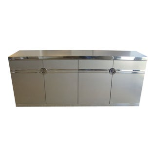 Pierre Cardin SIGNED Stainless Steel and Nickel Cabinet