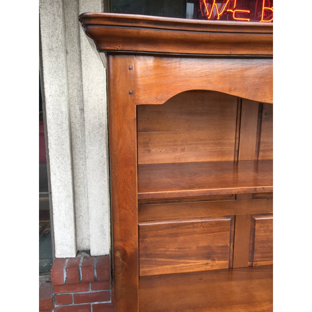 Large Solid Walnut Bookcase - Image 3 of 6