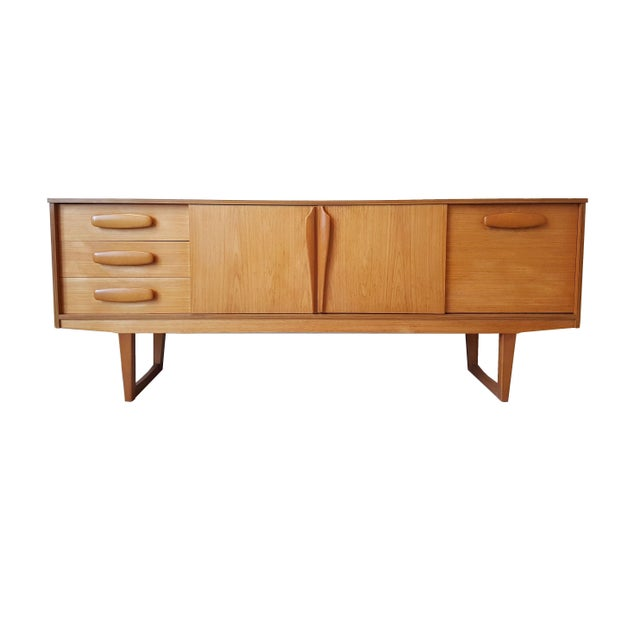 Mid Century Modern Danish Clear Cherrywood Buffet, Credenza, 1960s For Sale - Image 9 of 9