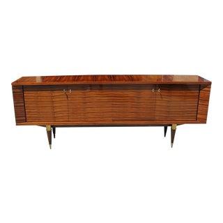 Beautiful French Art Deco Exotic Macassar bony Sideboard /Buffet Circa 1940s