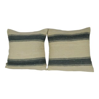 Vintage Turkish Kilim Pillow- a Pair For Sale