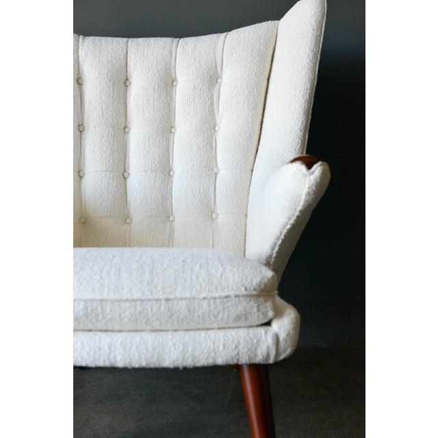 "Wood 1950s Hans Wegner Model Ap19 ""Papa Bear"" Chair For Sale - Image 7 of 13"