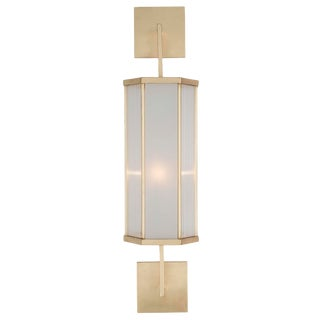 Edge Sconce (Brushed Gold) For Sale
