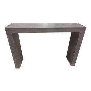 Minimalist Concrete Axle Stone Gray Console Table