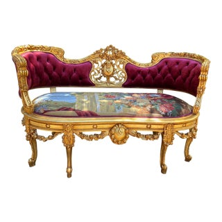 Louis XVI Style Deluxe Sofa For Sale