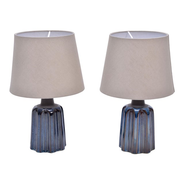 Ceramic Table Lamps by Soholm Stentoj, 1970s - a Pair For Sale