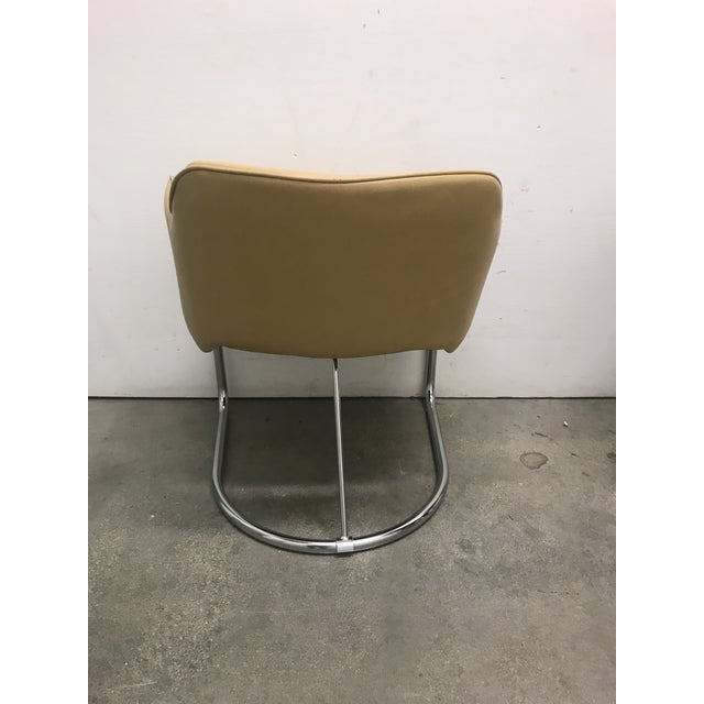 Chrome Eero Saarinen Style Chairs - a Pair For Sale - Image 7 of 11