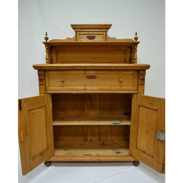 Brown Late 19th Century Pine Chiffonier For Sale - Image 8 of 9