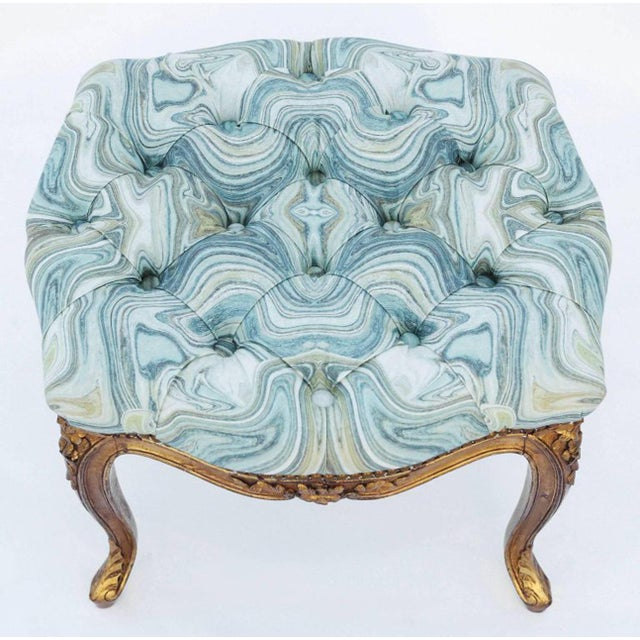 Fabric 19th Century Louis XV Giltwood Bench For Sale - Image 7 of 7