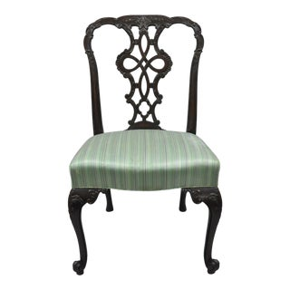Antique Solid Mahogany Georgian Style Dining Chair For Sale