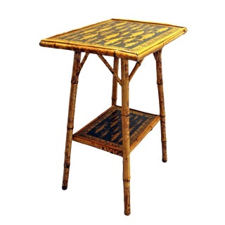 1890s Bamboo Rectangular Side Table