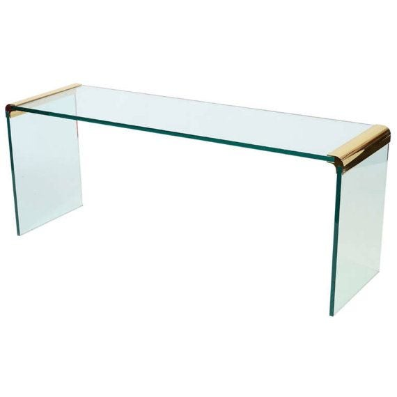 Leon Rosen for Pace Collection Sofa Console Table For Sale