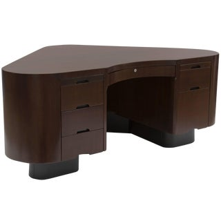 Fabulous Mahogany and Steel Fletcher Aviation Desk For Sale
