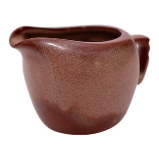 Vintage Brown Frankoma Creamer/Vase For Sale