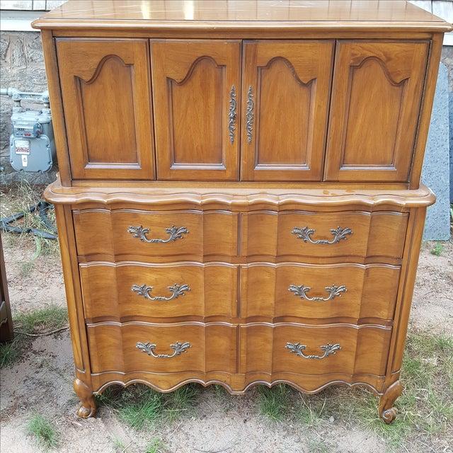 Vintage White Fine Furniture Highboy Dresser - Image 2 of 4