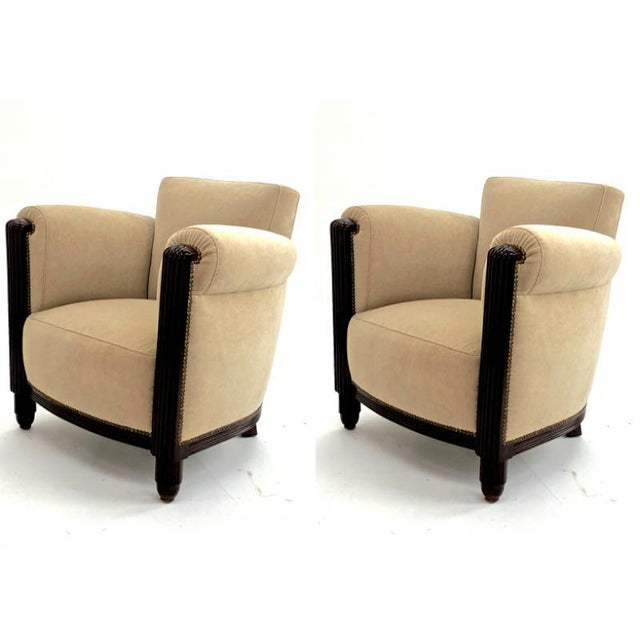 1930s Paul Follot Pair of Comfy Club Chair For Sale - Image 5 of 7