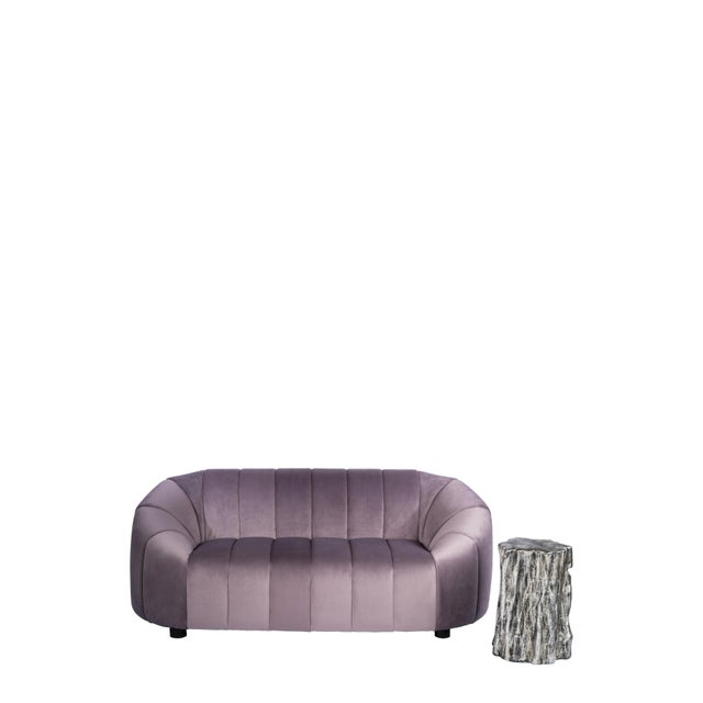 Art Deco Art Deco Mauve Milly Bubble Sofa For Sale - Image 3 of 6