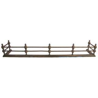 Classical Brass Fireplace Fender For Sale