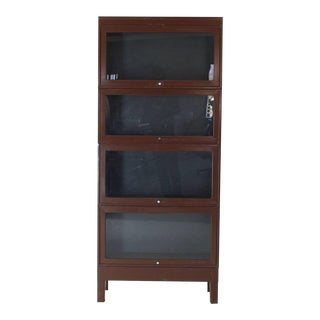 Mid-Century Modern Tall Metal Six Sections Barrister Bookcase Cabinet For Sale