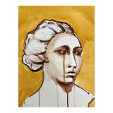 Image of Contemporary Yellow Portrait Painting For Sale