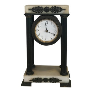 19th Century Antique French Portico Clock For Sale