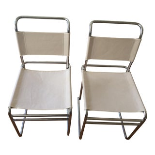 "Marcel Breuer Bauhaus ""B5"" Dining Chairs - a Pair For Sale"