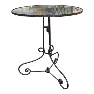 1920s Art Deco Wrought Iron Top Table For Sale