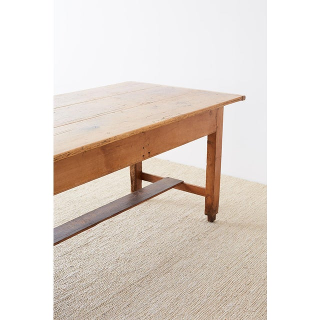 Rustic English Pine Library Table or Farm Table For Sale - Image 11 of 13