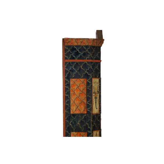 19th Century Antique Painted Armoire Cabinet Circa Late 19th Century For Sale - Image 9 of 13