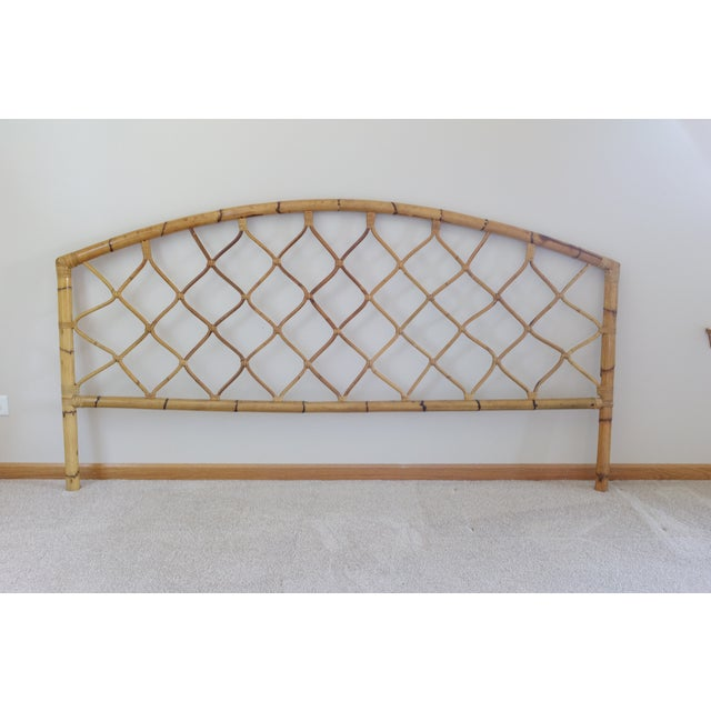 King Size Bamboo Rattan Headboard - Image 6 of 6