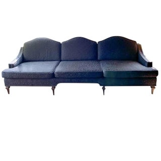 Large Mid Century Curved Back Sofa For Sale