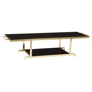 Chinoiserie James Mont Brass Brass Coffee Table For Sale