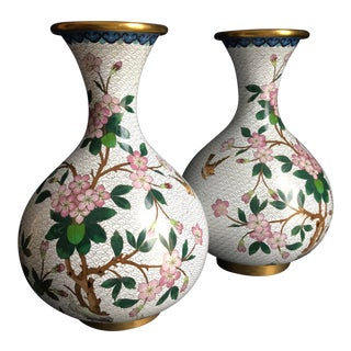 1950s Chinoiserie Ginger Jar Vases - a Pair For Sale