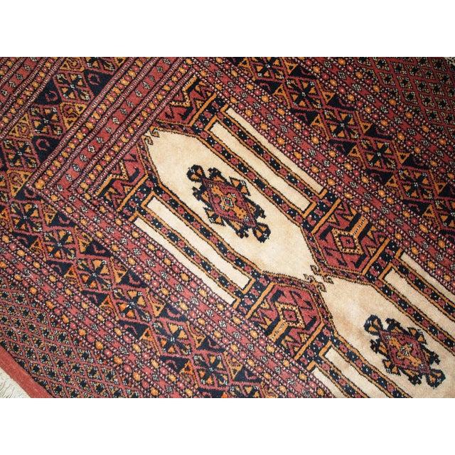 Antique Turkoman Rug: 1950s Handmade Semi-Antique Turkoman Rug