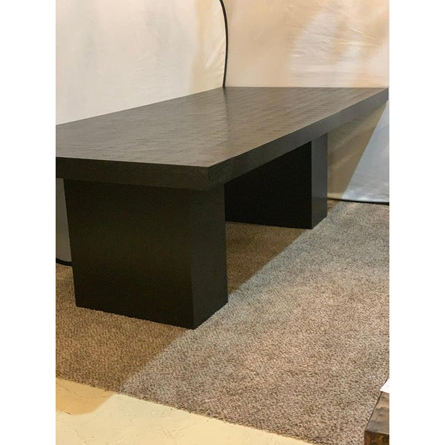 Hollywood Regency Style Ebonized Oak Dining Table and Two Leaves For Sale In New York - Image 6 of 13