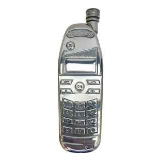 Chrome Plated Cell Phone Flask For Sale