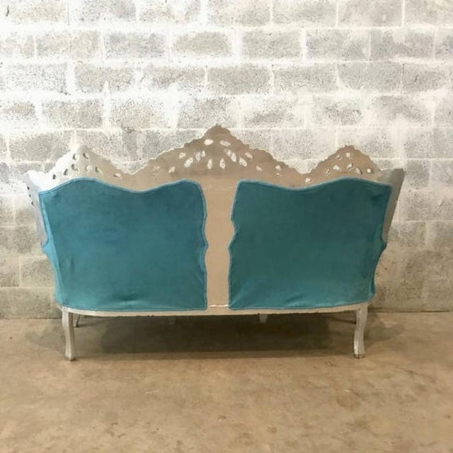 Baroque 1940s Vintage Italian Baroque Rococo Style 3-Seater Sofa For Sale - Image 3 of 6