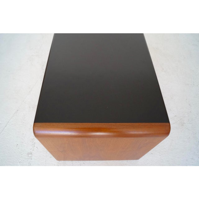 Mid-Century Teak Waterfall Edge Coffee Table - Image 9 of 11