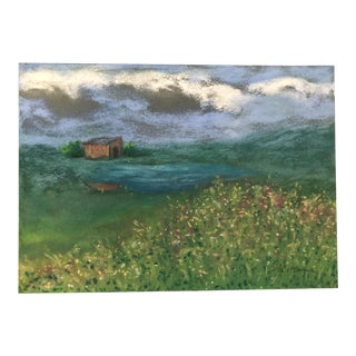"Nancy Smith ""Land Escape"" Original Pastel Landscape Painting For Sale"