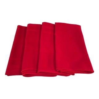 Vintage Red Napkins - Set of 4 For Sale