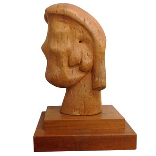 Large Goldstein Sculpture 'Head With Two Faces' For Sale