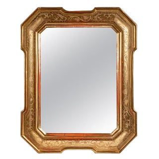 18th Century Gilt Italian Mirror From Lombardy For Sale