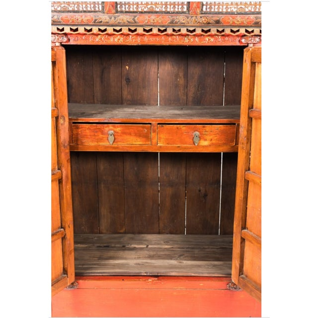 Painted Chinoiserie Armoire Ca. 1880 For Sale - Image 10 of 10