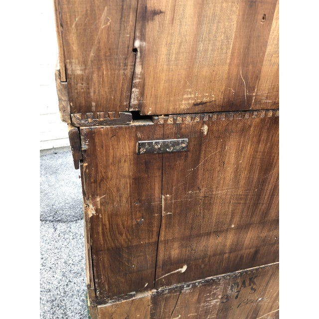 Large Vintage Industrial Wood Hardware Cabinet For Sale - Image 11 of 13
