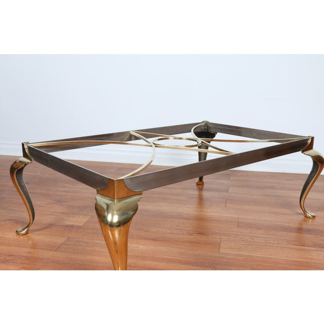 Brass Coffee Table With Glass Top - Image 10 of 10